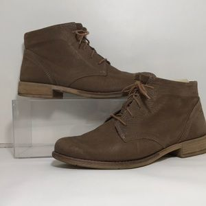 Josef Seibel Brown Leather Chukka Lace-up Boots 39